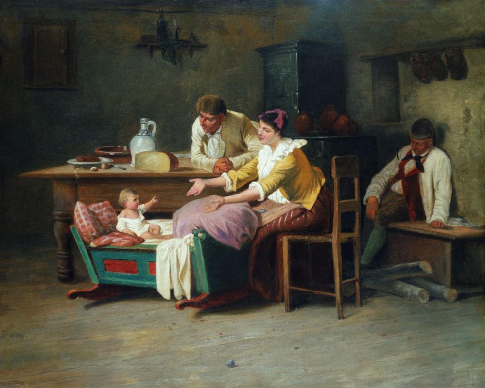 Михай Либ Мункачи. Интерьер английского крестьянского дома