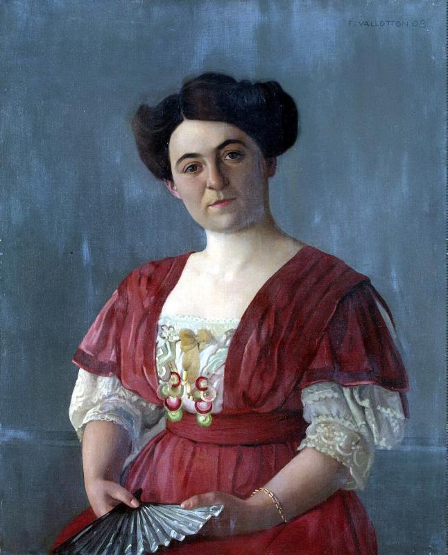 Felix Vallotton. Portrait of Mrs. Haasen
