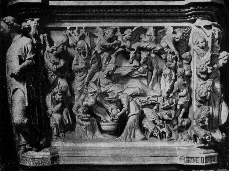 Giovanni Pisano. Christmas. Relief of the pulpit of the Church of Sant Andrea in Pistoia