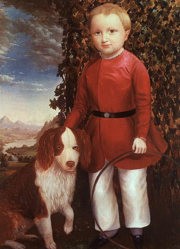 Фондовой. Мальчик с собакой