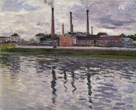 Gustave Caillebotte. Factories in Argenteuil