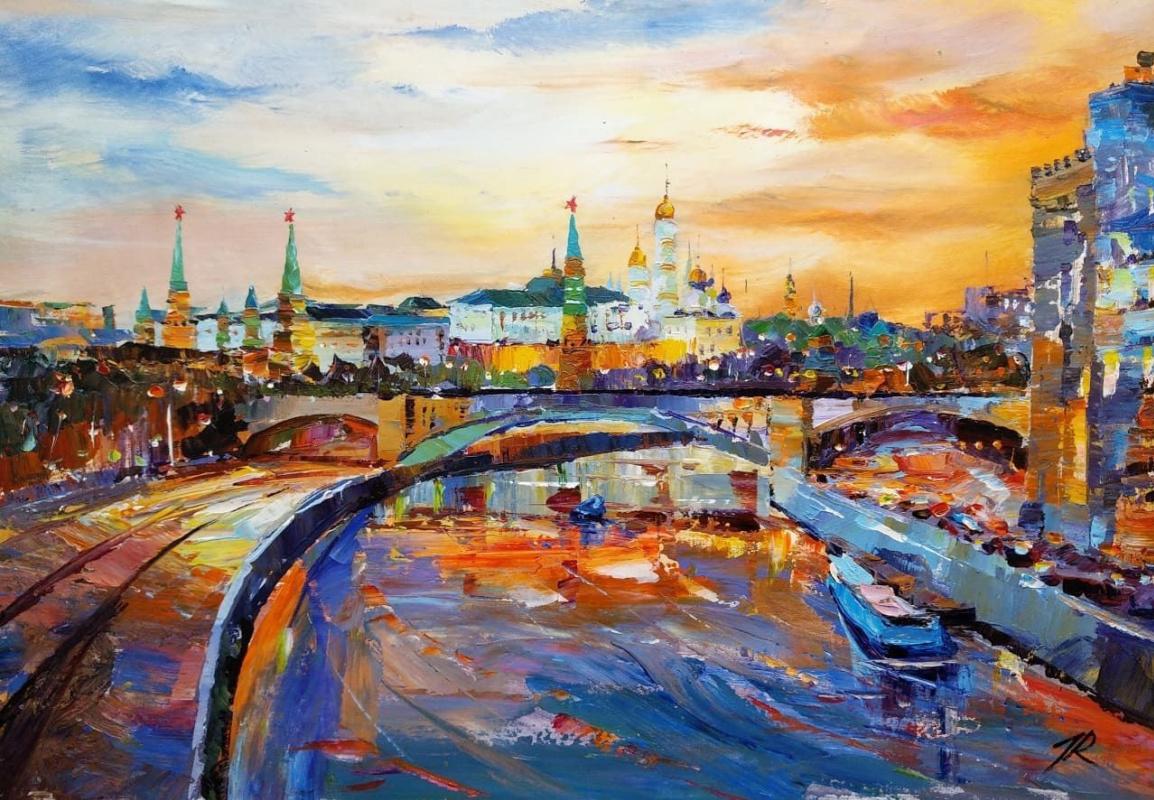 Jose Rodriguez. Ships sailed along the Moskva River ...