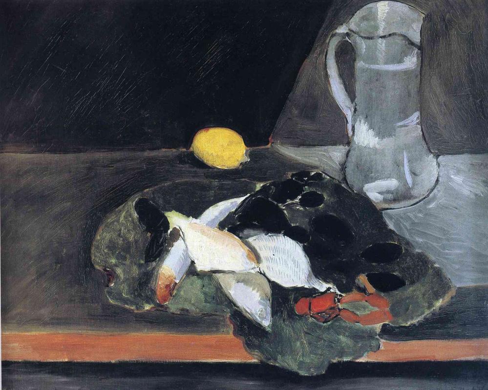 Анри Матисс. Натюрморт с рыбой и лимоном