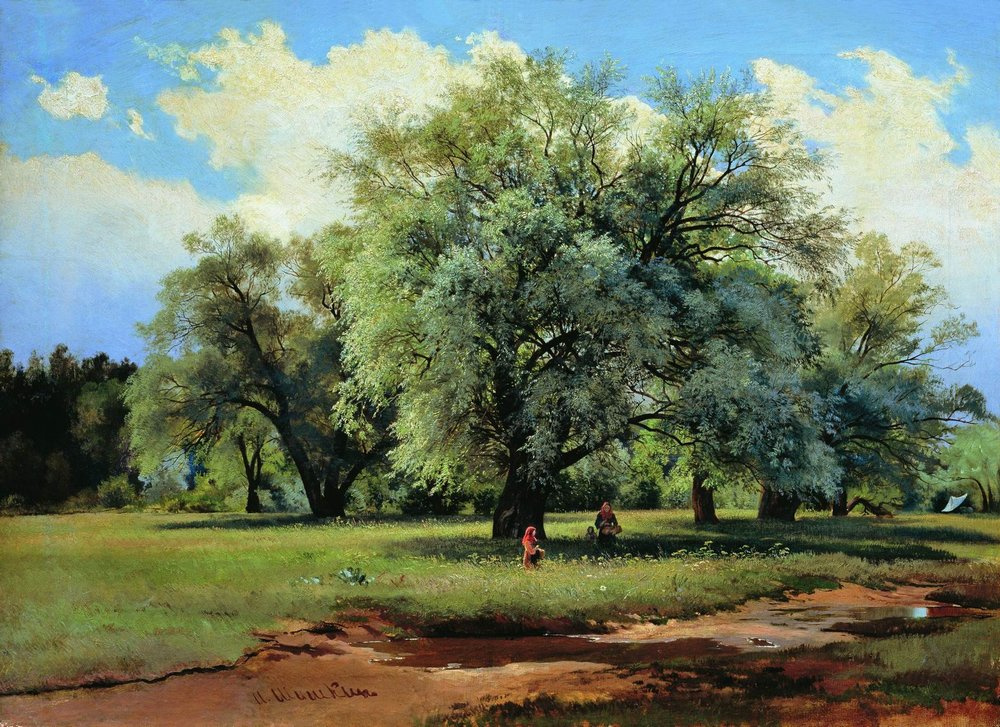 Ivan Shishkin. Willow, illuminated by the sun