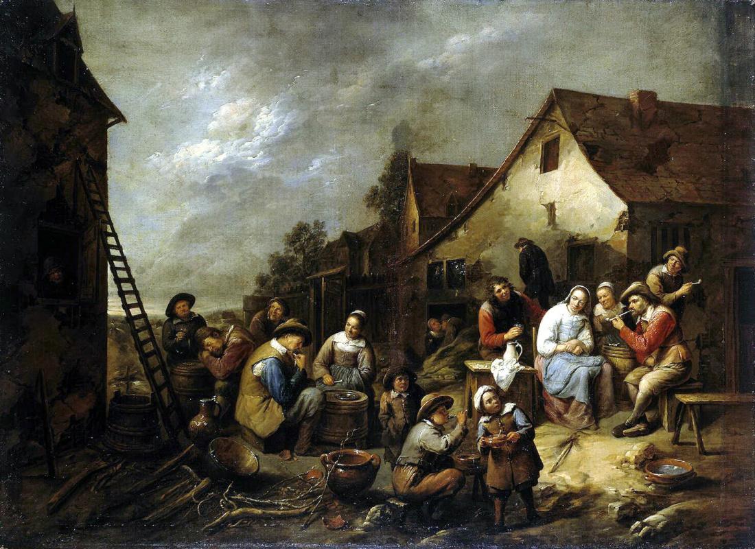 Гиллис ван Тильборх. Деревенская корчма
