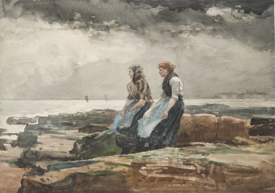 Winslow Homer. Looking at the sea