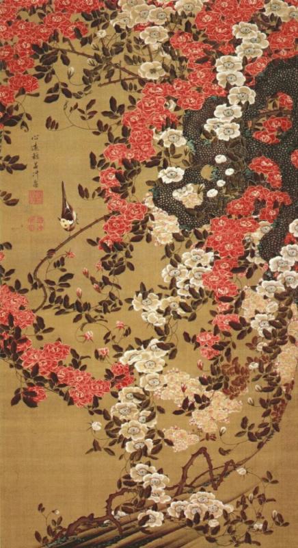 Ito Dziakutu. Wagtail and roses