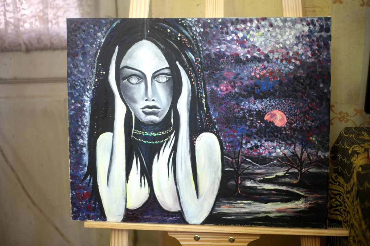 Michael Tchitchinadze (13). Euphoria - canvas 40 x 50. oil. Price 550 dollars
