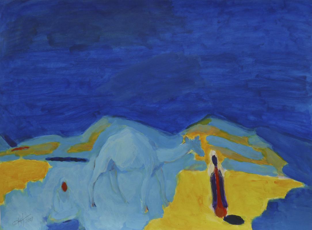 Boris Karafelov. The Bedouins. In the blue expanse