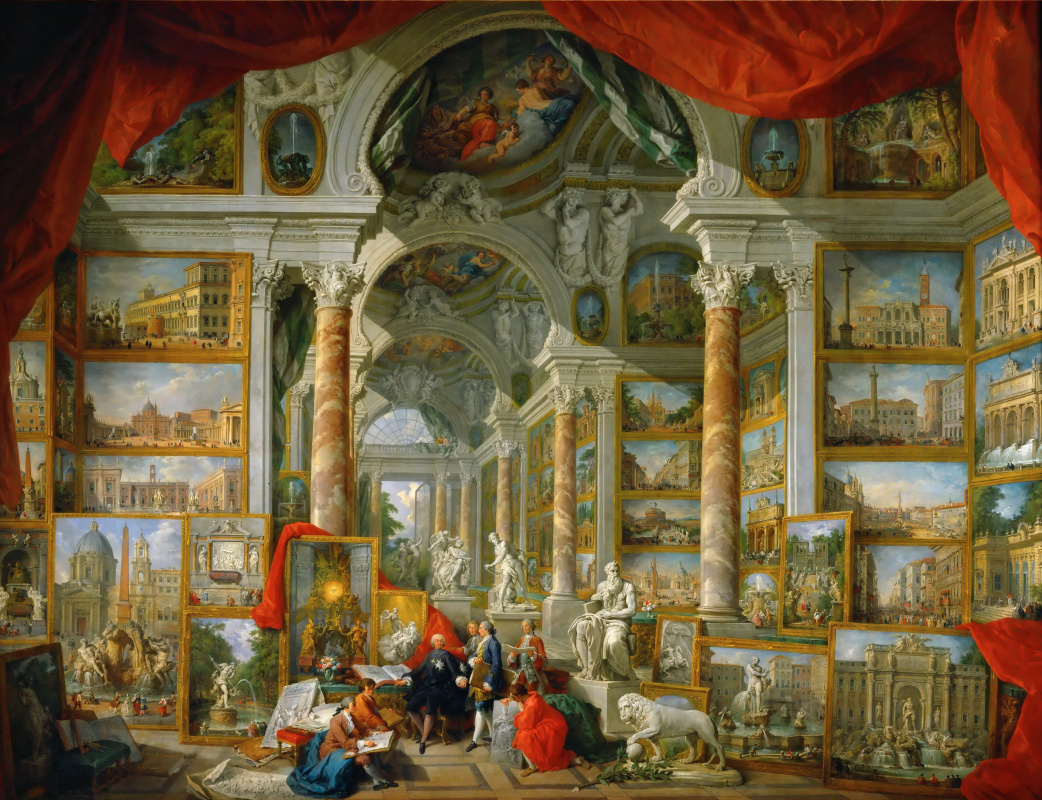 Giovanni Paolo Pannini. Gallery with views of modern Rome