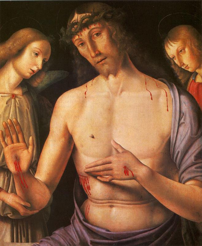 Джованни Санти. Христос с двумя ангелами (Муж скорбей)