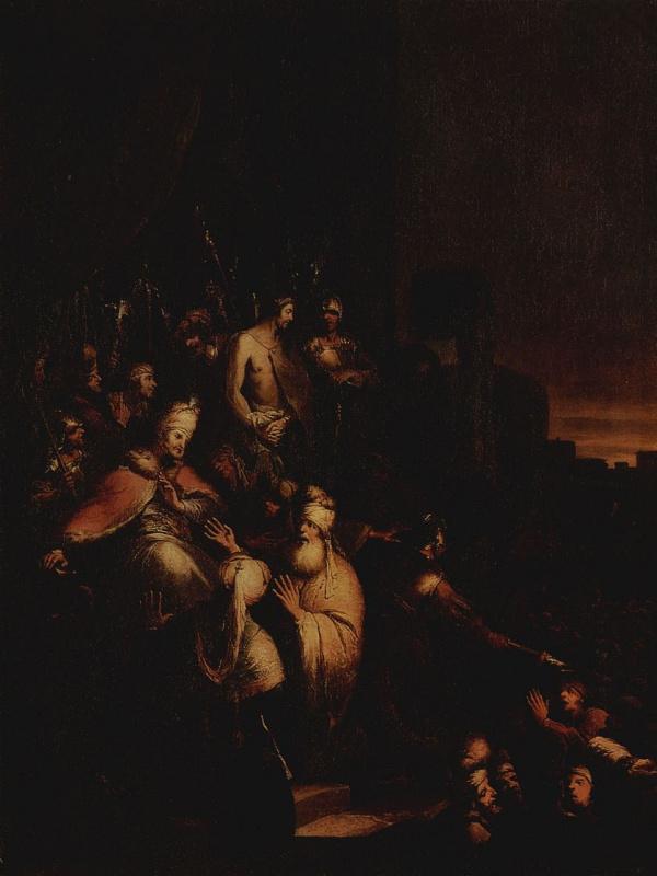 Христиан Вильгельм Эрнст Дитрих (Дитрици). Христос перед народом