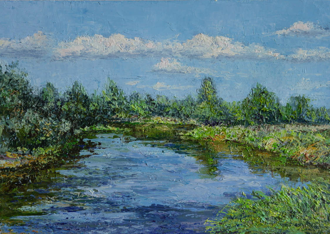 Irina Viktorovna Korotoyakskaya (Dronova). On the river (sketch)