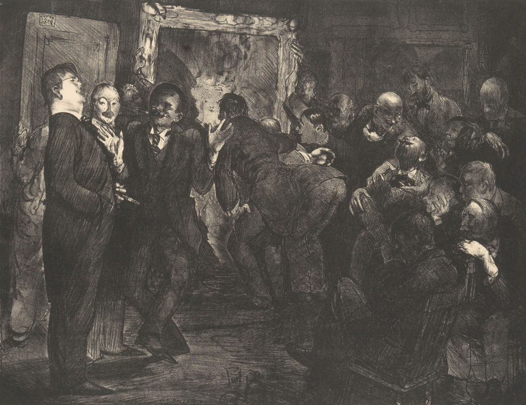 George Wesley Bellows. Artists discussing art