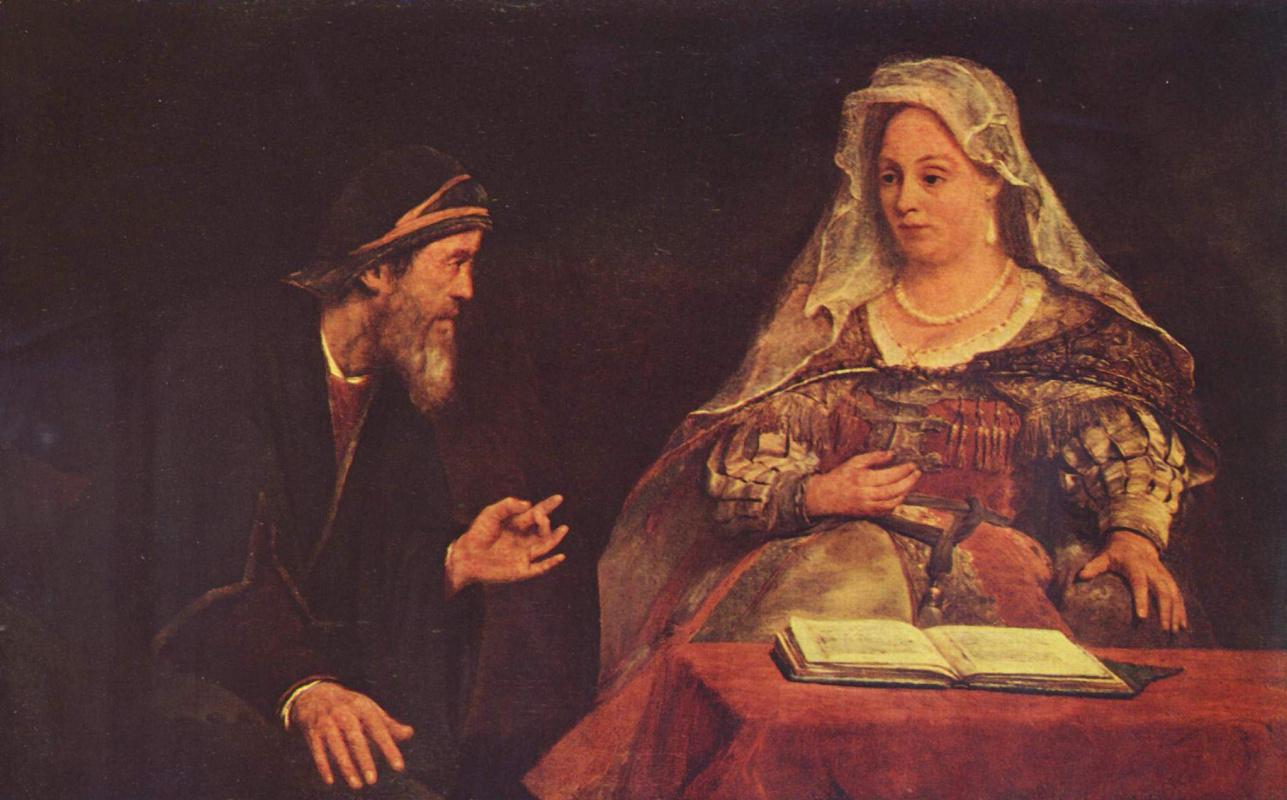 Art Johans de Gelder. Esther and Mordecai
