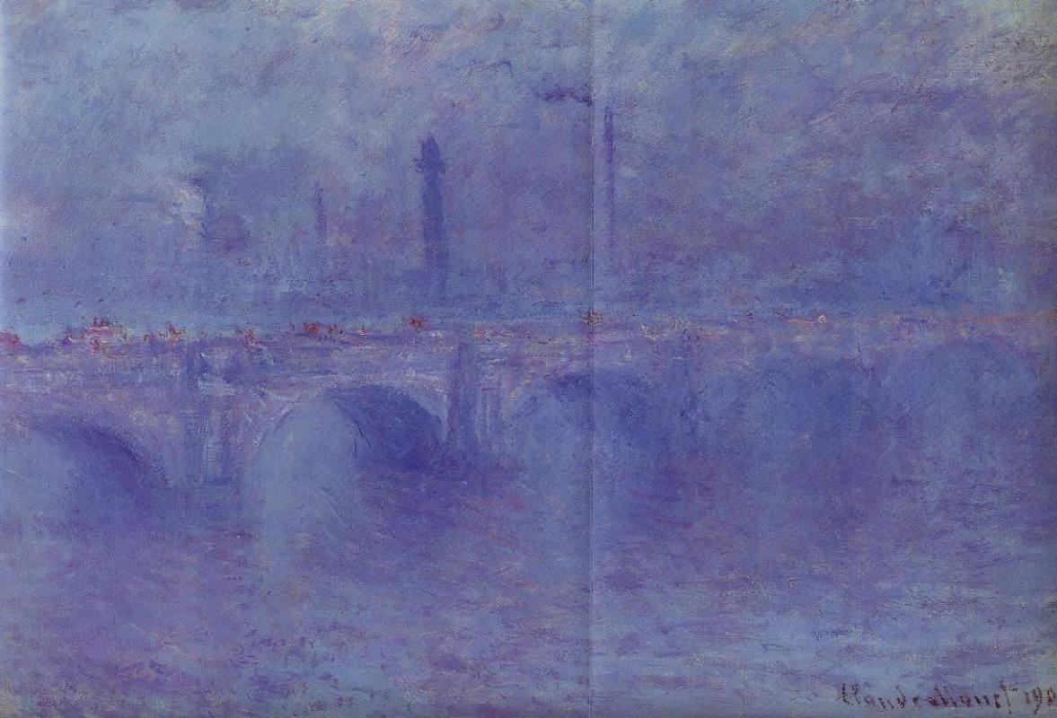 Клод Моне. Мост Ватерлоо, эффект тумана