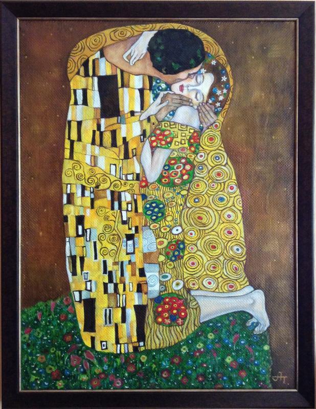 Анна Полянская. Поцелуй. По мотивам одноименной картины Густава Климта.
