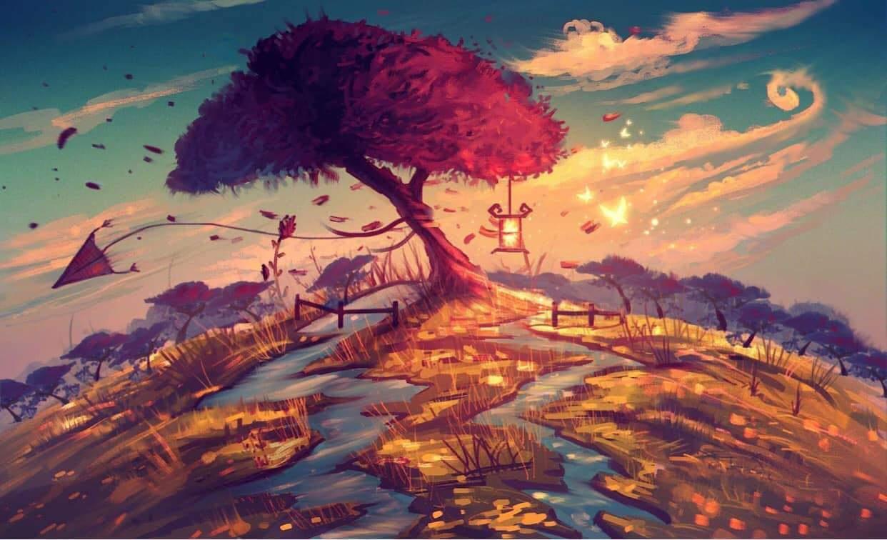 Nadale Niko. Art Paintings: Autumn garden