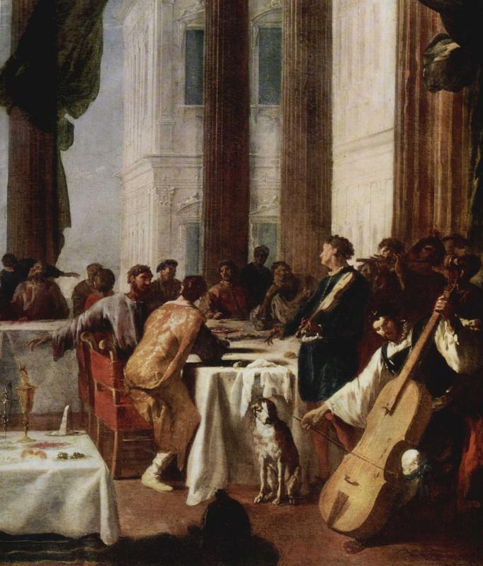 Иоганн Генрих Шёнфельд. Свадьба в Кане Галилейской. Фрагмент
