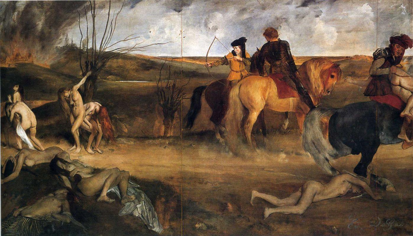 Эдгар Дега. Сцены войны в средние века