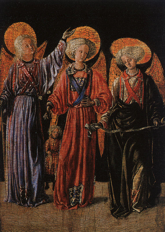 Мастер Прато-Веккьо. Святые Мигель, Рафаэль и Габриэль