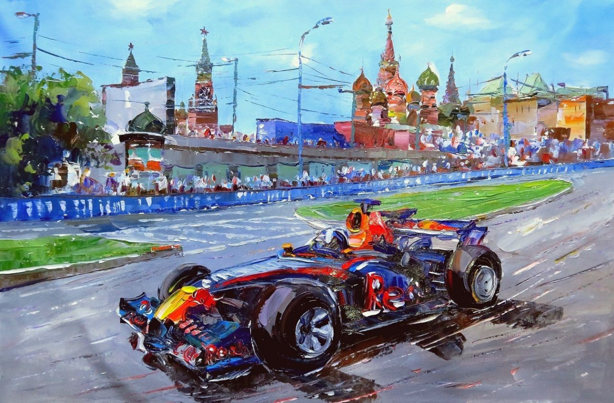 Jose Rodriguez. Formula 1. Race on Red Square
