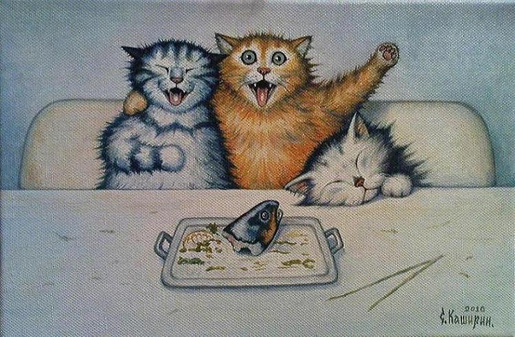 Stepan Vladimirovich Kashirin. Cats with fish head