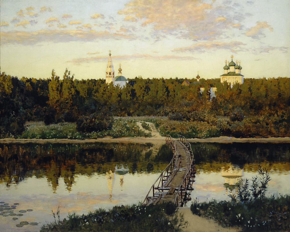 Over eternal rest. Levitan. Picture, photo and story of creation