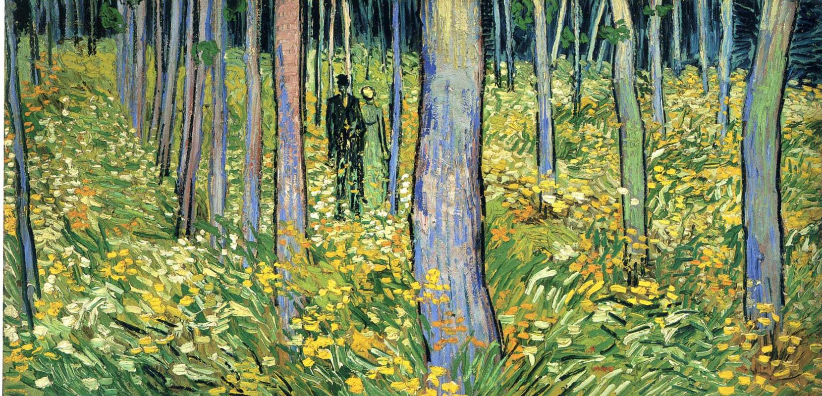 Винсент Ван Гог. Две фигуры в лесу