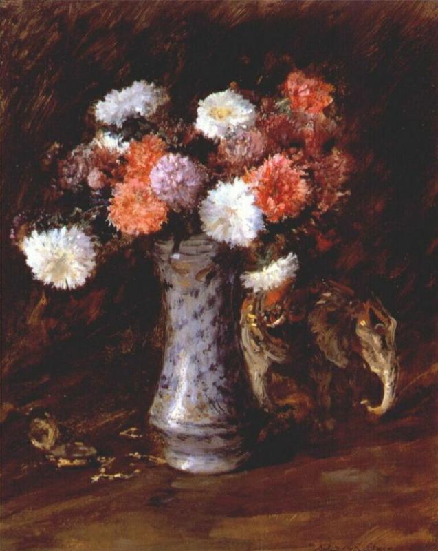 William Merritt Chase. Asters