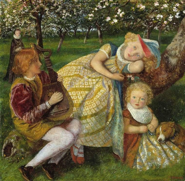 Arthur Hughes. Royal garden