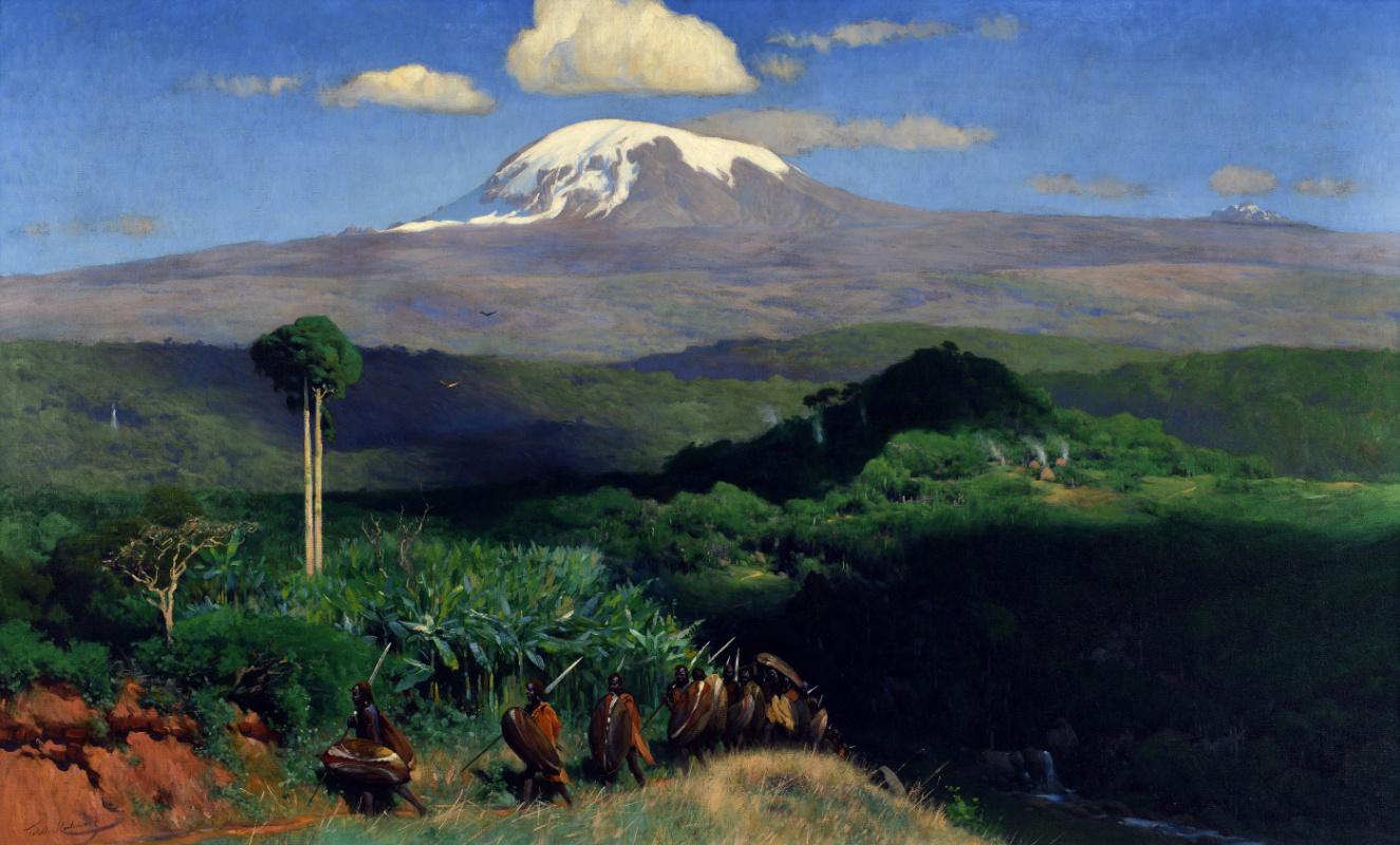 Friedrich Wilhelm Kunert. Warriors on the Path in Front of Mount Kibo