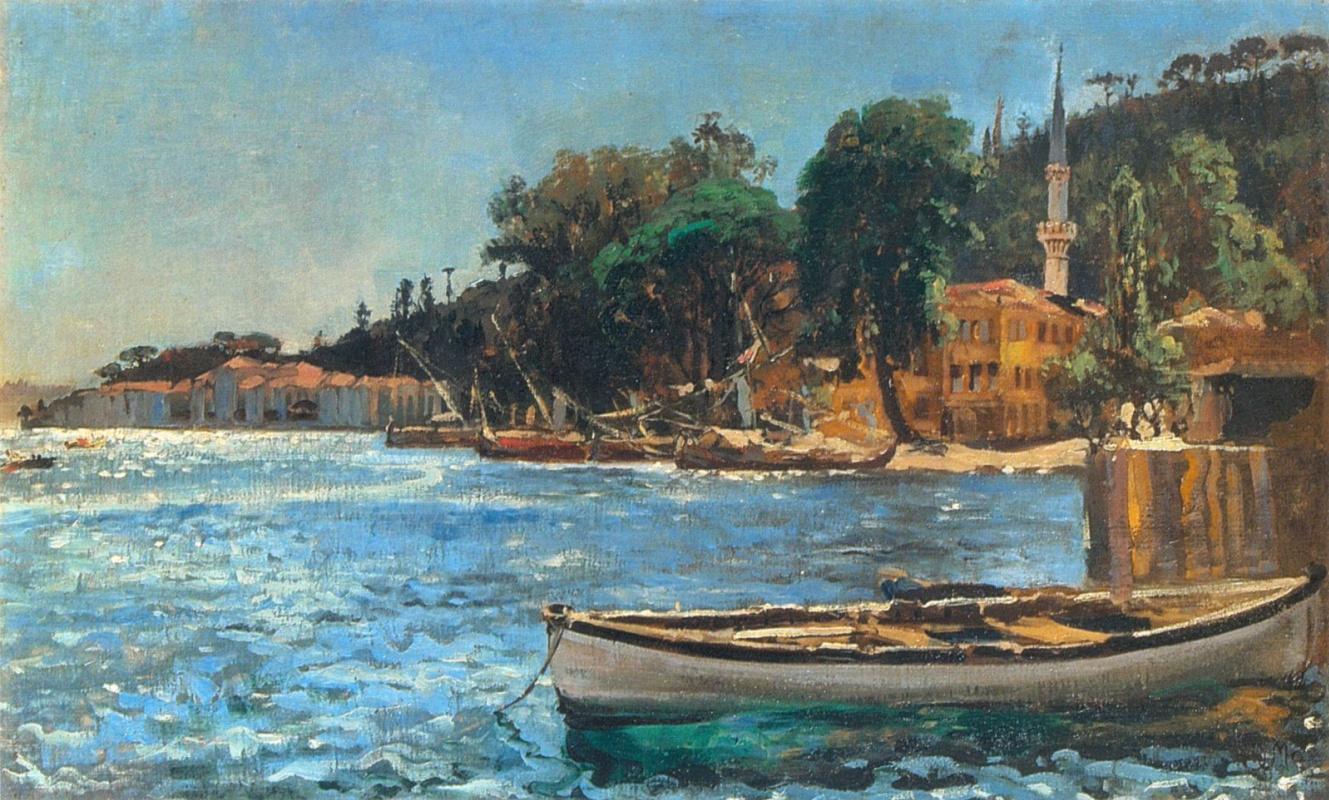 Ян Матейко. Вид Бебека под Константинополем