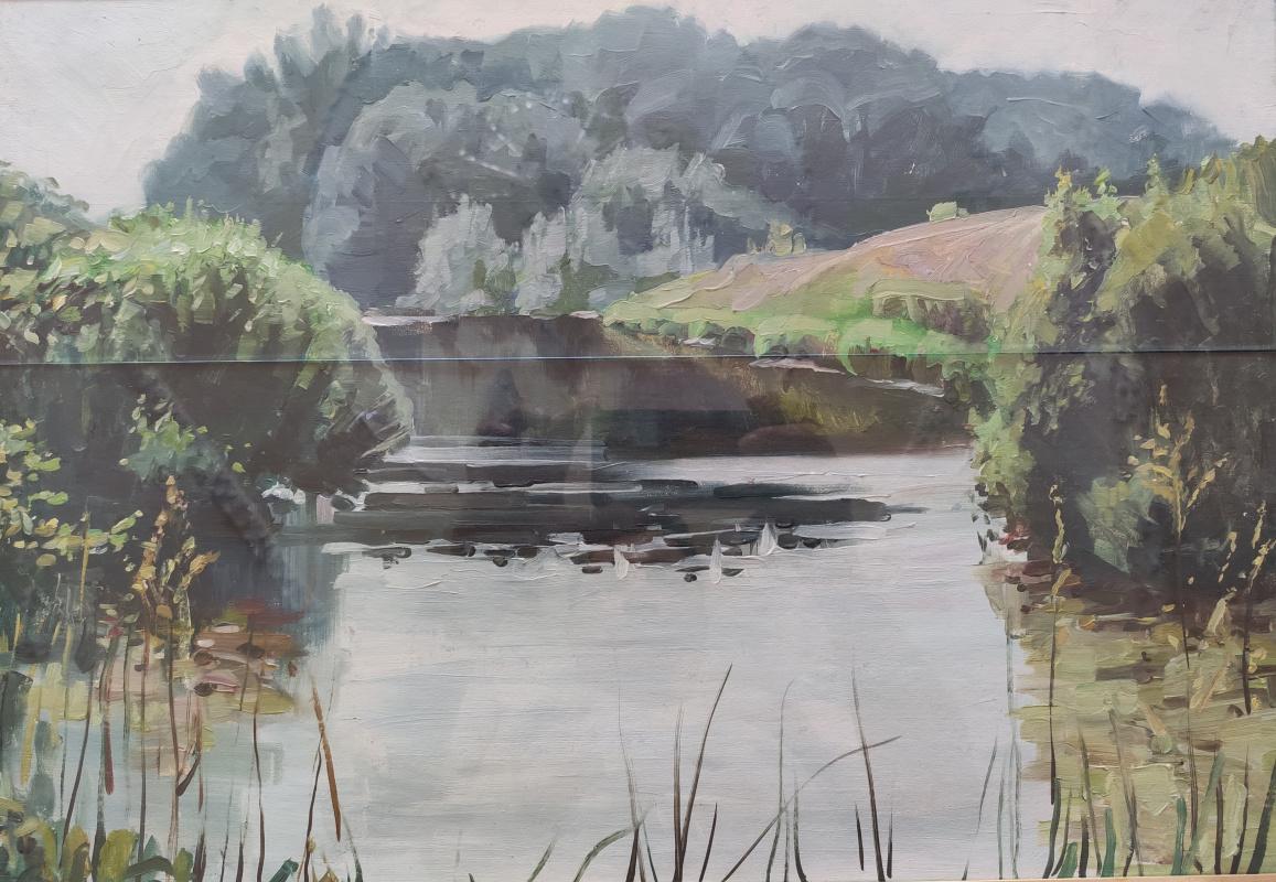 Renat Khusnullovich Khaliulin. By the pond
