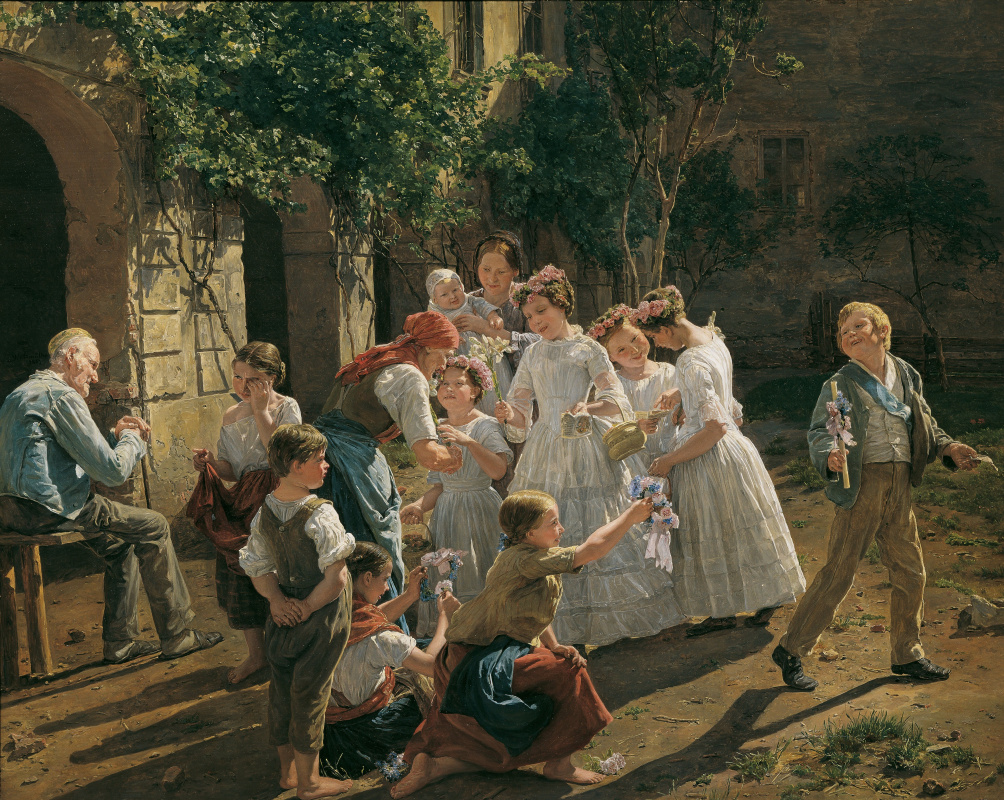 Ferdinand Georg Waldmüller. Morning of the feast of the Body of Christ