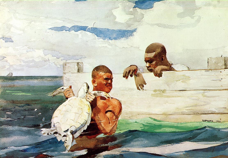 Winslow Homer. Turtle pond
