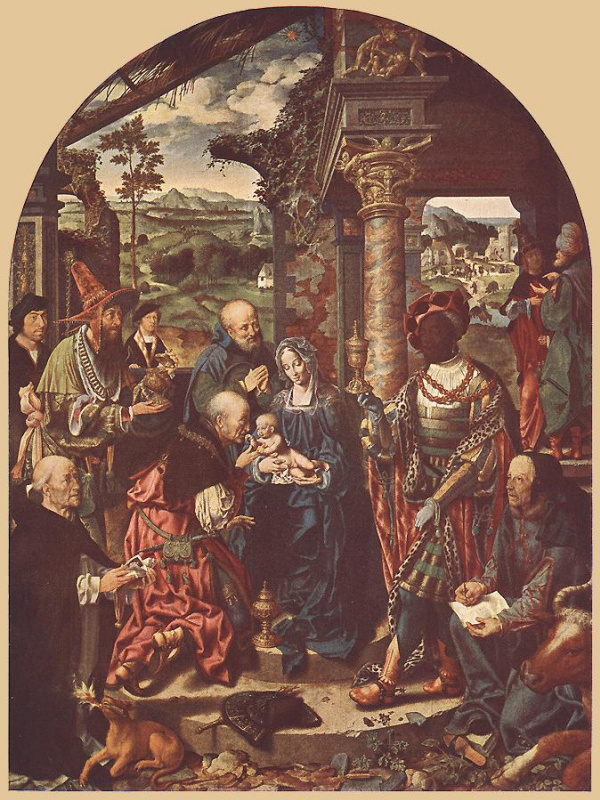 Jos van Kleve. The adoration of the Magi