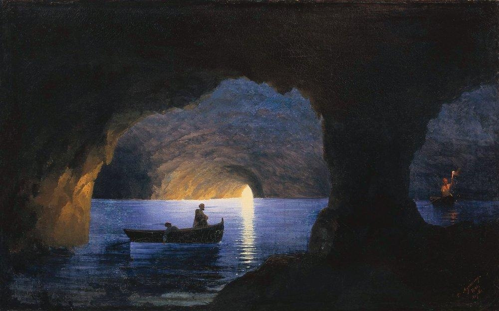 Ivan Aivazovsky. Azure grotto. Naples