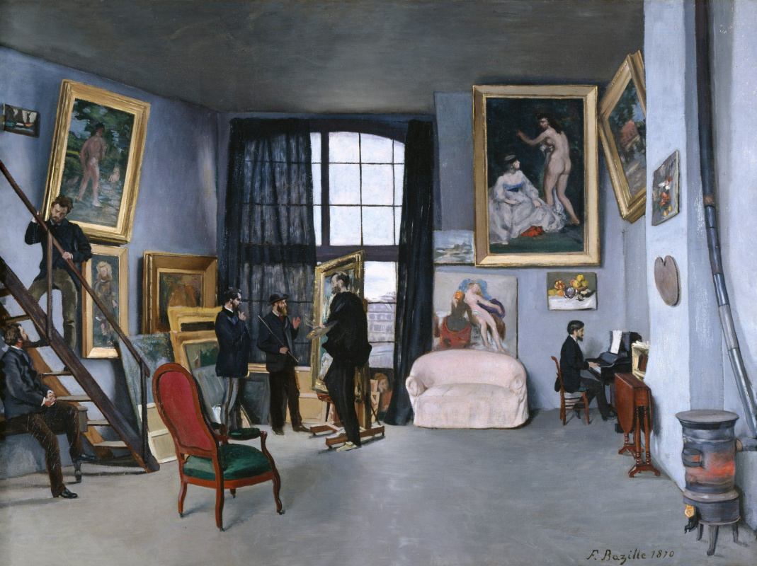 Frédéric Bazille. The artist's Studio on Rue La Condamine, 9 in Paris