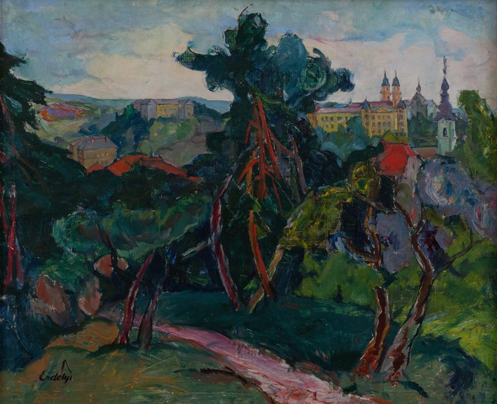 Adalbert Mikhailovich Erdeli. Uzhgorod castle. Bishop's Residence
