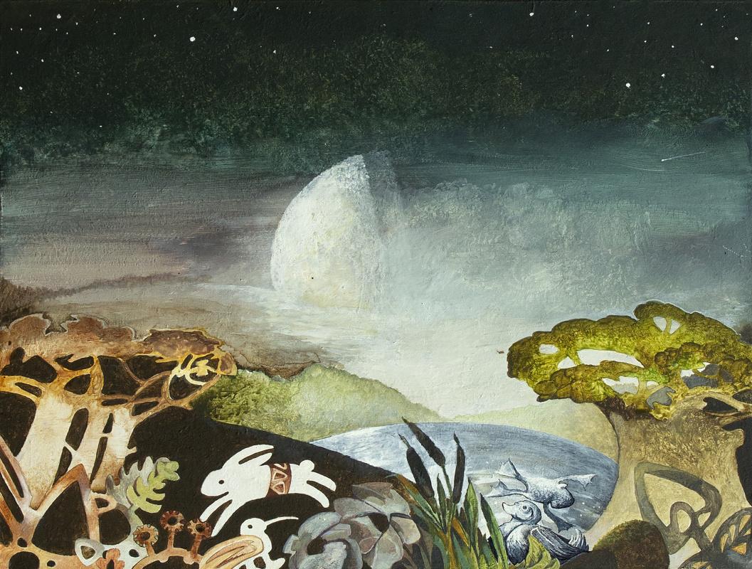 Pavel Leonidovich Korzukhin. Лесное озеро ночью