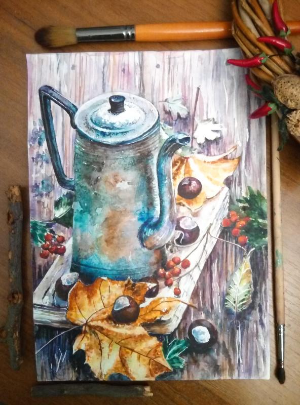 Irina Morvaniuk. Coffee pot