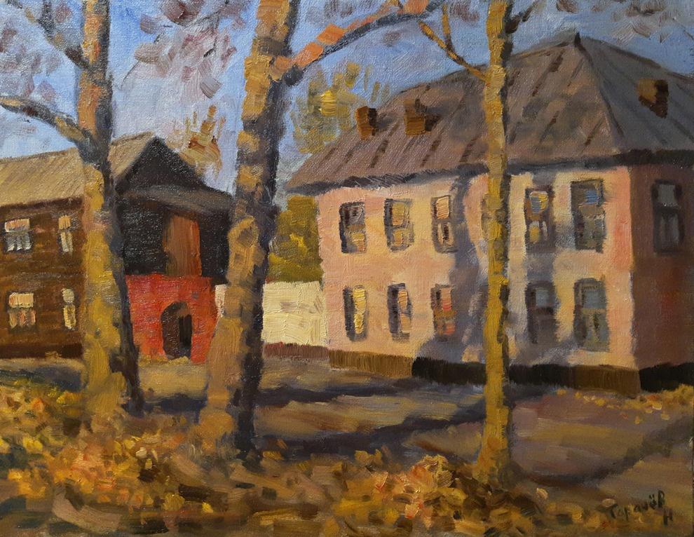 Nikita Tarachev. Autumn evening on an old street