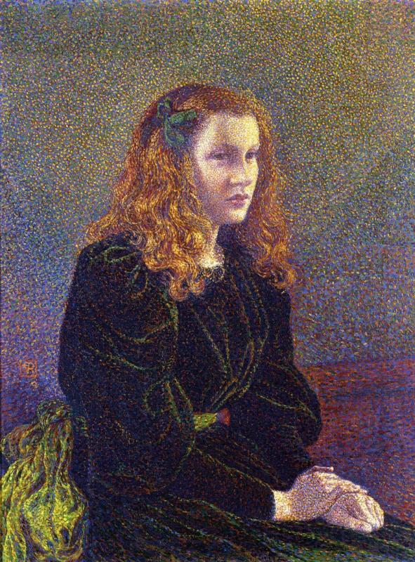 Theo van Rysselberghe. Girl in green