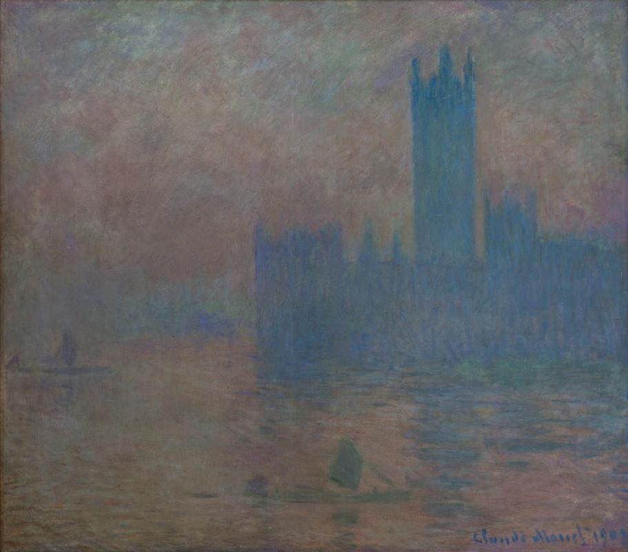 Claude Monet. The houses of Parliament, fog effect