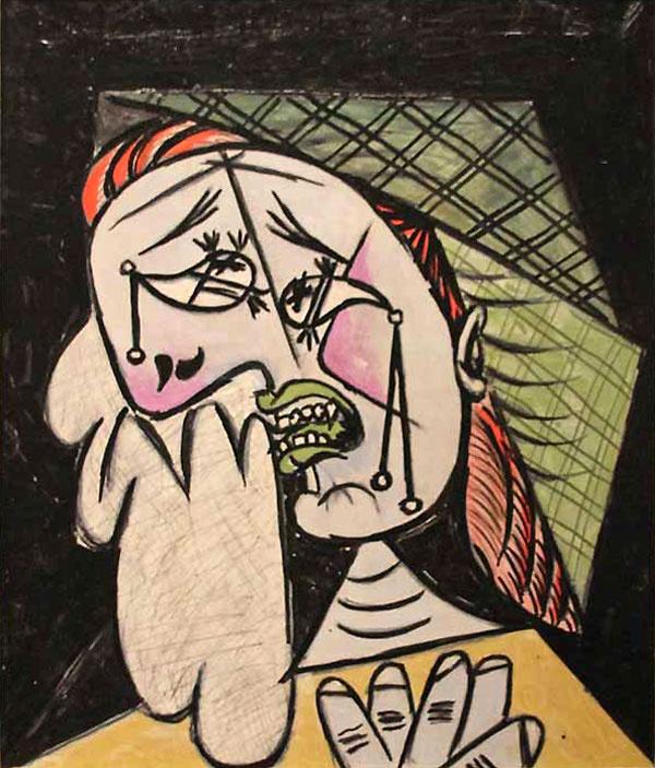 Пабло Пикассо. Плачущая женщина с платком 2