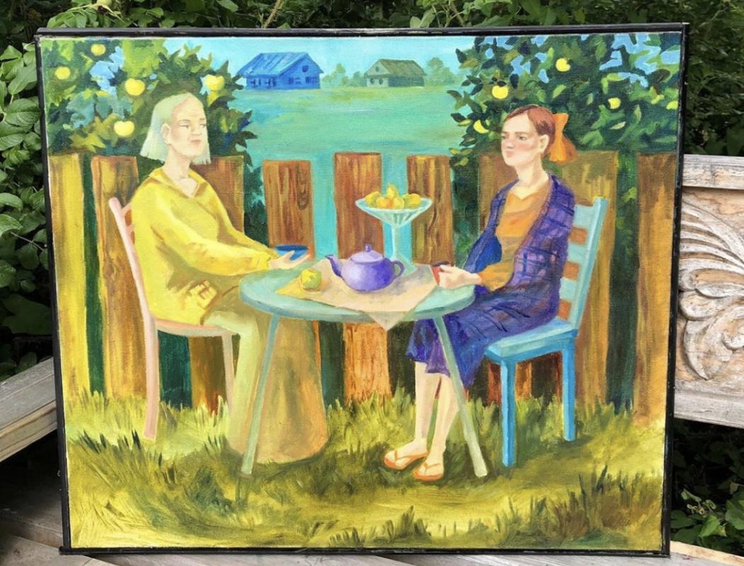 """Helena. """"Tea in the garden"""""""
