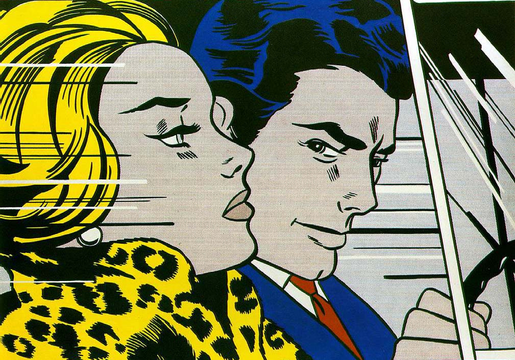 Roy Lichtenstein. In the car