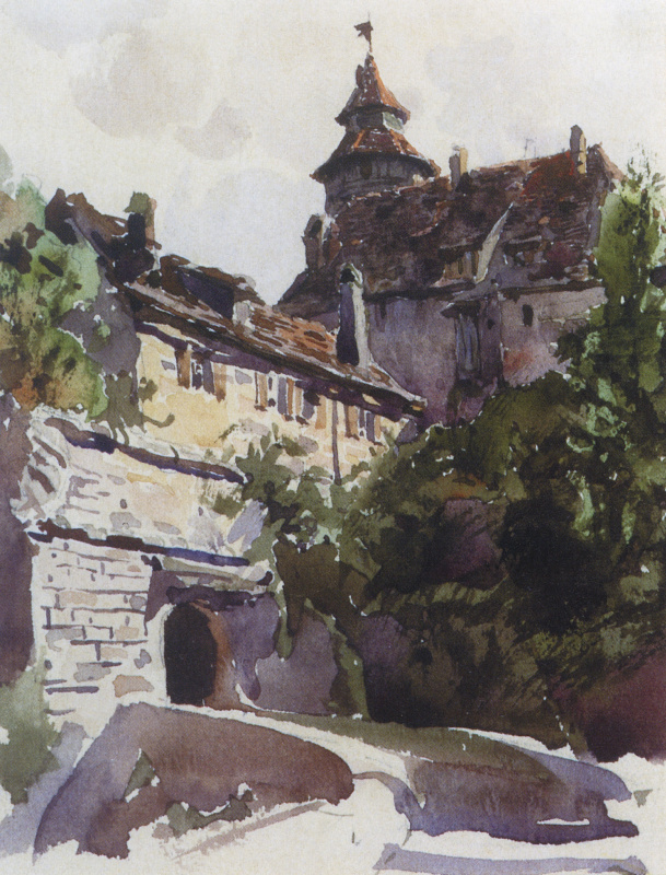 Vasily Polenov. The area of the medieval city wall