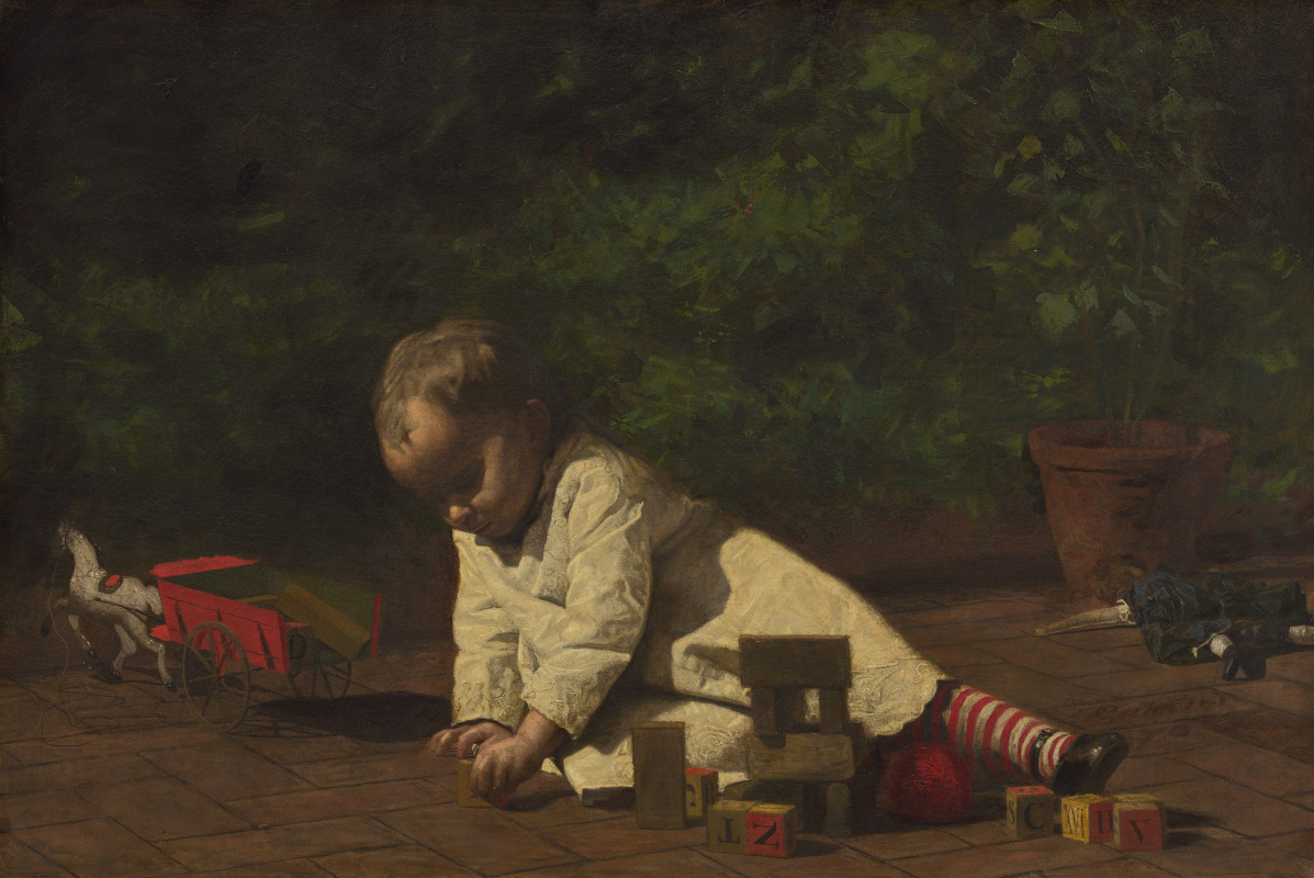 Thomas Eakins. The kid playing